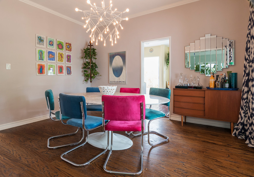Example of a trendy dining room design in Los Angeles