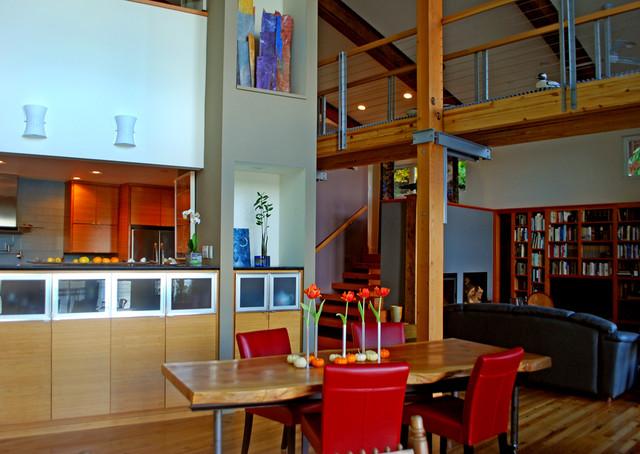 Houzz Tour: Art and Design on Raft Island, Washington contemporary-dining-room