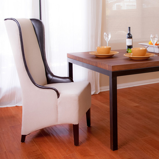 Howard Beige Tall Dining Chair Modern, Tall Dining Room Chairs