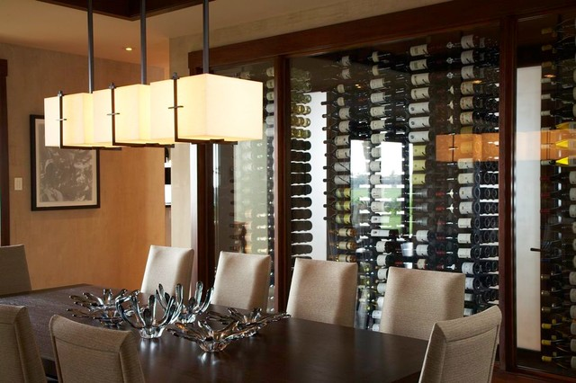 Hualalai Serenity - Wine Wall - Asian - Dining Room ...