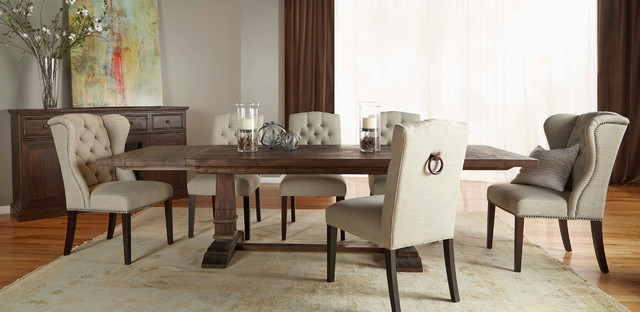 Hudson Rustic Java 5 Piece Formal Dining Set Rustic