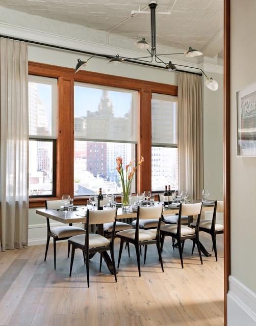 Hudson Street Loft contemporary-dining-room