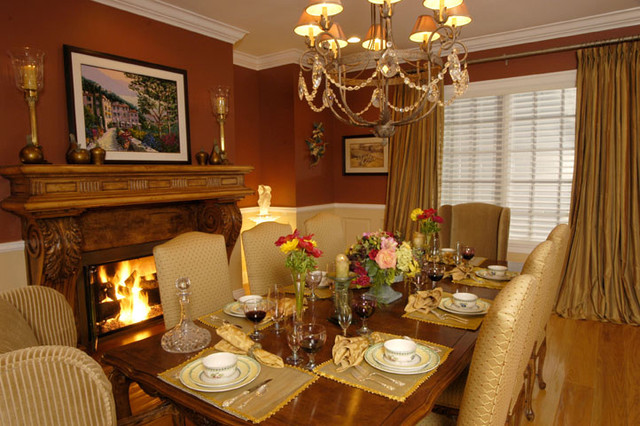 Inspiration for a transitional dining room remodel in Other