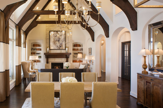 Huntington Homes in The Estates at Craig Ranch traditional dining room