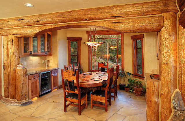 Hybrid Log House Traditional Dining Room Vancouver By Sitka Homes