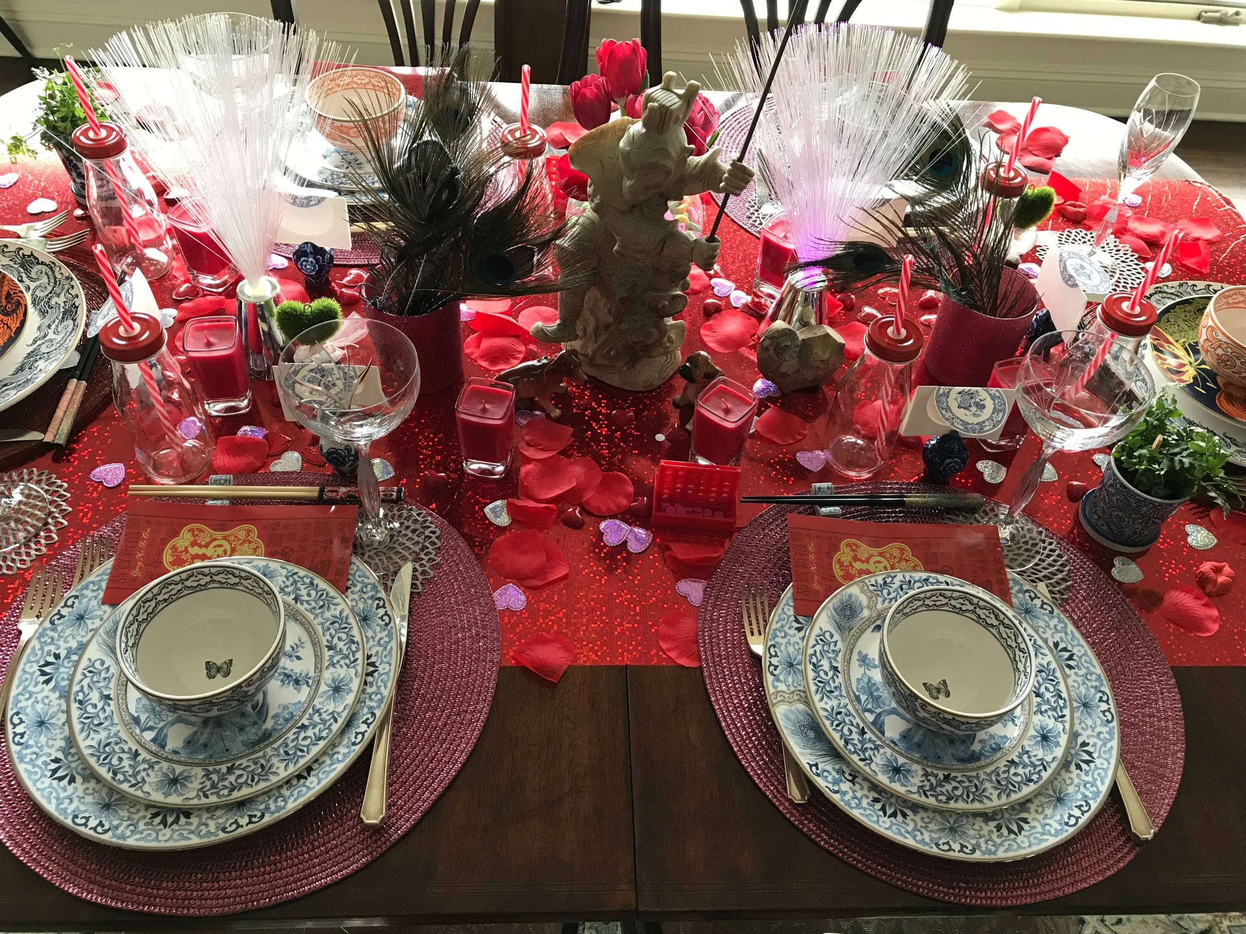 I See Red! Tablescape Designs ~ Valentine's Day/Lunar New Year Ladies Who Lunch