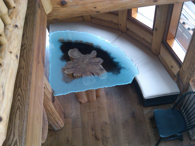 Log Dining Table And Chairs Pool Dining Room Table