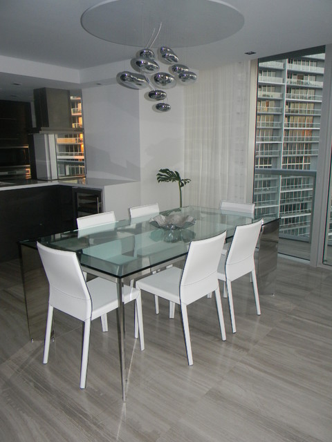 Icon Brickell, Tower 2 - Private Residence modern-dining-room