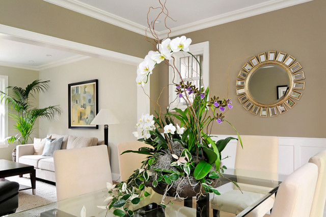 Ideas For Staging Home With Plants Living Arrangements Contemporary Dining Room