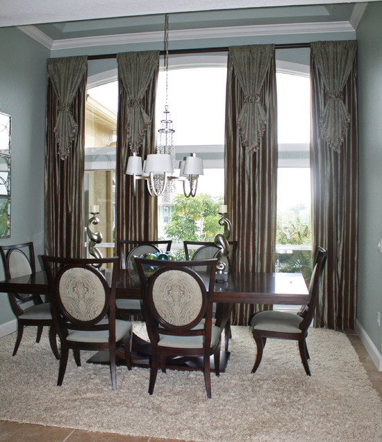 Curtains Ideas curtains for large windows ideas : Ideas for Tall Windows - Dining Room - Other - by The Drapery Company
