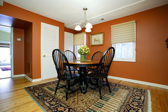 image painting dining room burnt orange traditional dining room - Painting Dining Room