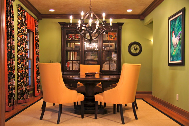 Indian hill arts crafts traditional dining room for Dining room designs india