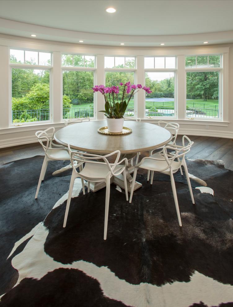 Example of a large classic dark wood floor dining room design in Cincinnati