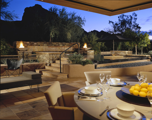 Indoor/Outdoor Space contemporary dining room