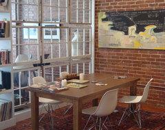 Castleberry Hill Loft industrial-dining-room