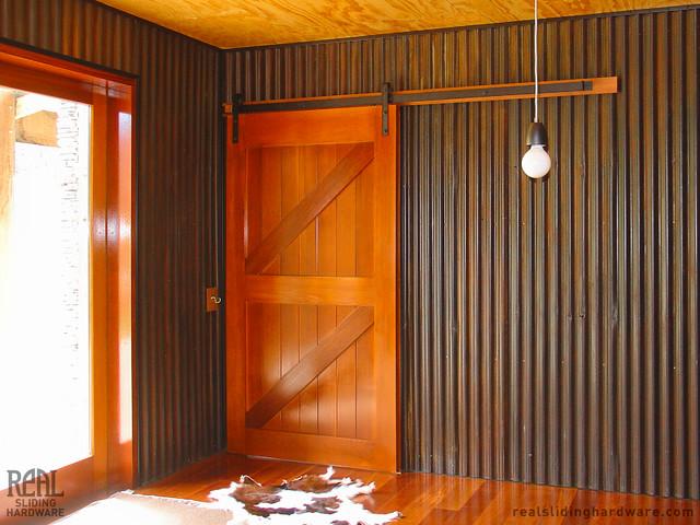 Barn door installations industrial dining room other for Barn door dining room