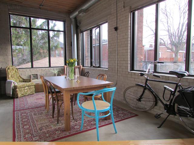 Industrial Loft industrial-dining-room