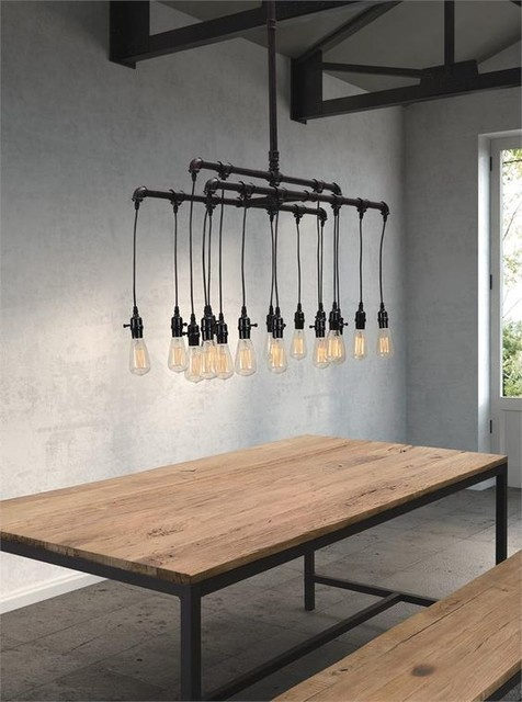 industrial style lighting industrial dining room by homeclick