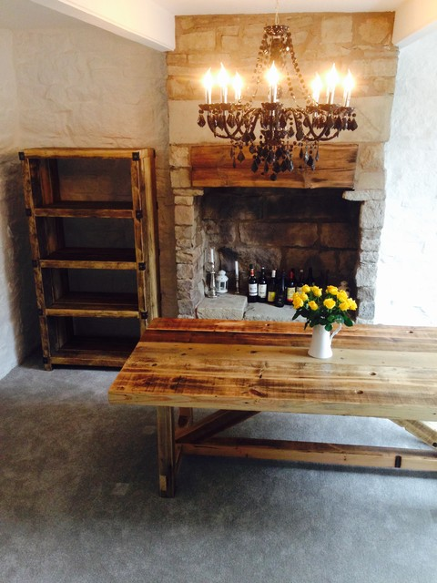 industrial style reclaimed wood dining table industrial