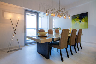 Infinity/Cayan Tower contemporary-dining-room