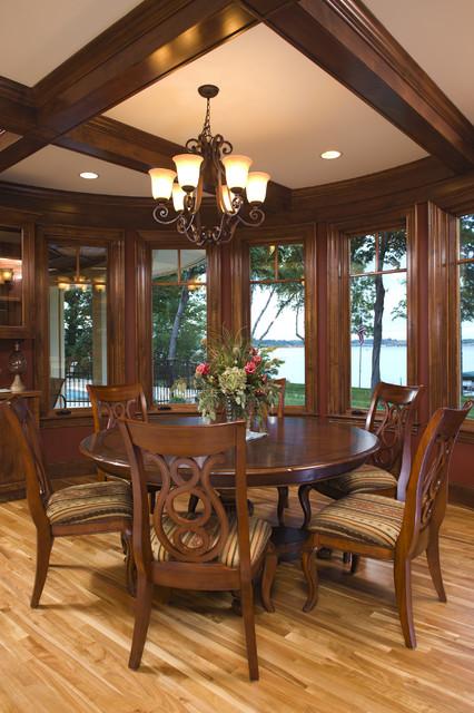 Informal Dining Area Overlooking Lake Minnetonka beach-style-dining-room