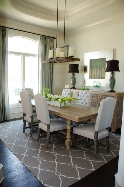 Inspired Drapes From Budget Blinds Transitional Dining