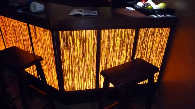 Inspired LED Accent Lighting Bar Eclectic Dining Room