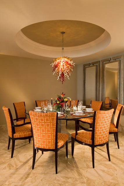 Interior condo living transitional dining room new for Best transitional dining rooms