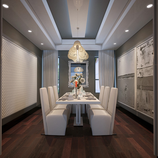 private house in las vegas usa contemporary dining room las