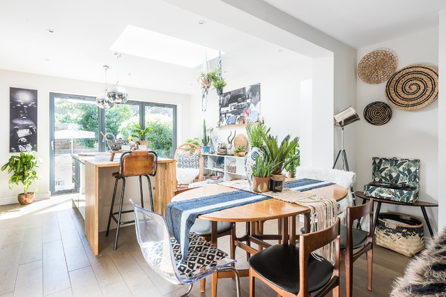 Interior Design Open Plan Living Eclectic Dining Room London By Tri