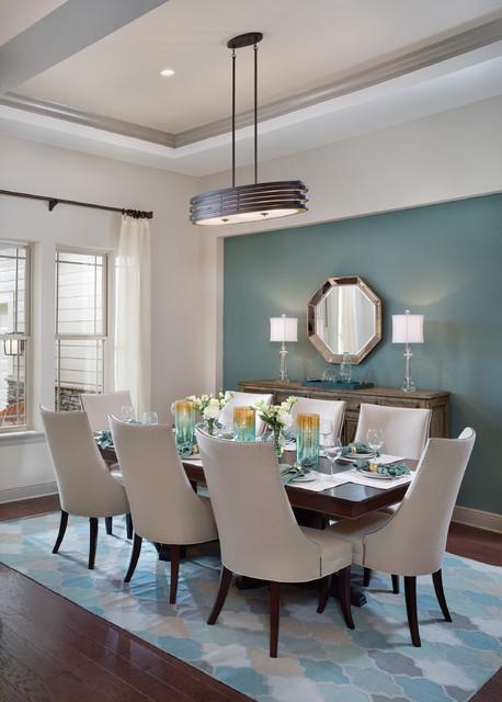 Interior Design Pensacola Florida Model Home (1226)Transitional Dining Room, Tampa