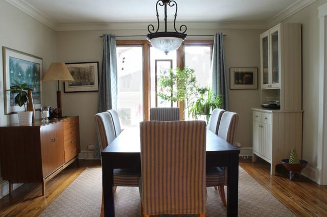 Interior Redesign midcentury-dining-room