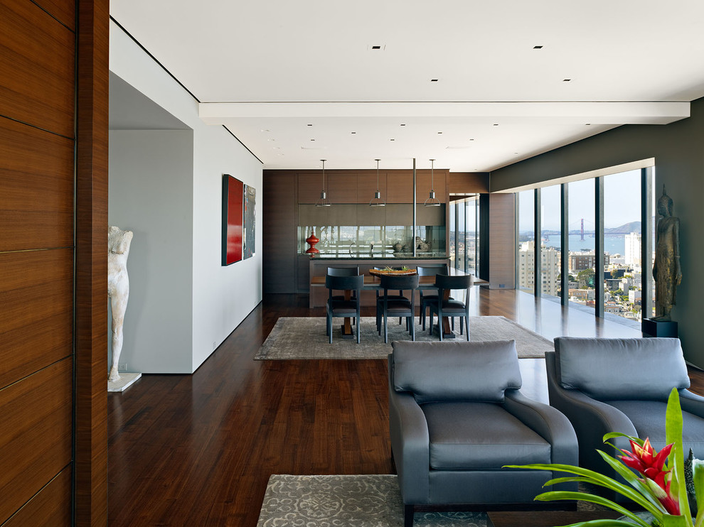 Example of a trendy great room design in San Francisco