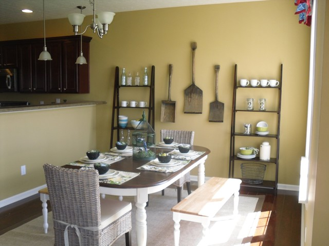 Interior spaces traditional-dining-room