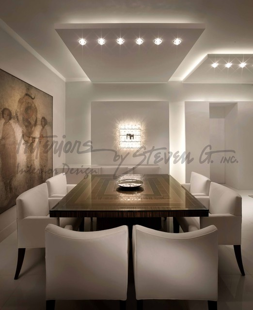 Interiors by steven g modern dining room miami by for Steven g interior designs