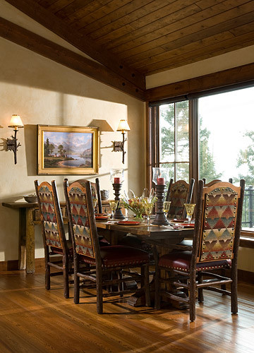 Iron Horse rustic-dining-room