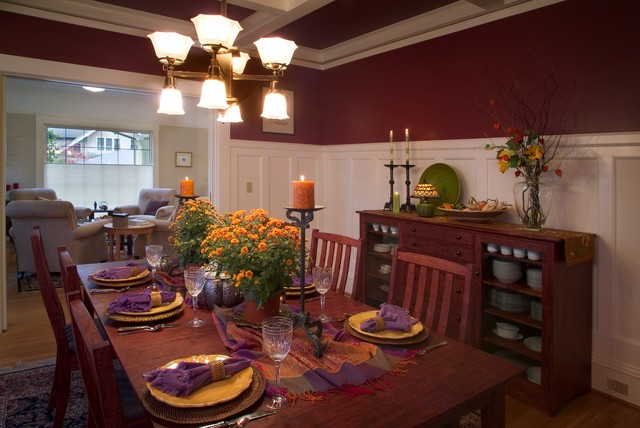 Irvington arts and crafts traditional dining room for Arts and crafts dining room set