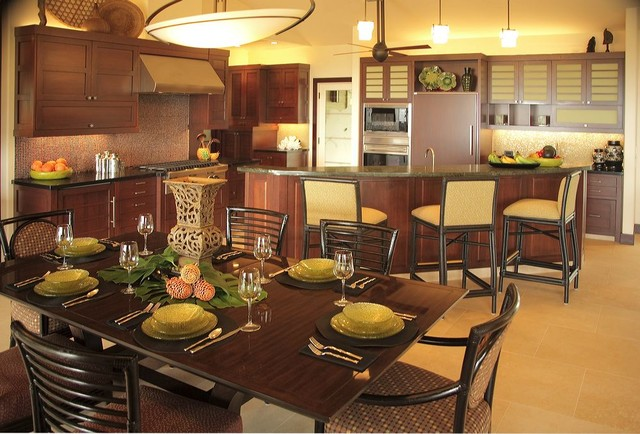 Island Asian Fusion Residence contemporary dining room