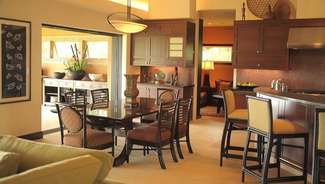 Interior designers decorators island asian fusion residence asian dining room