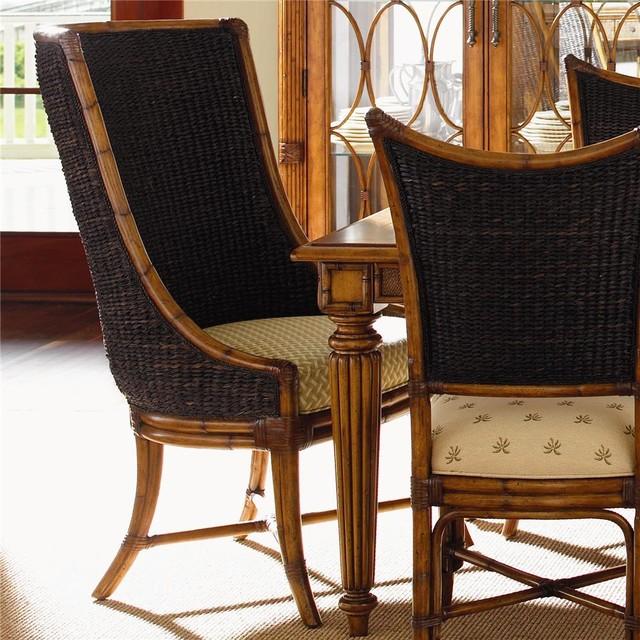 Island Estate Customizable Cruz Bay Host Chair With Woven