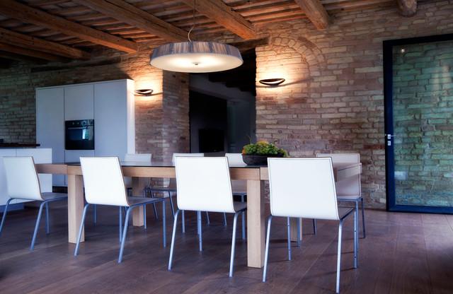 Italian Farmhouse Renovation Modern Dining Room