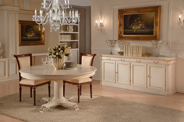 Italian Lacquered Dining Set Traditional Room