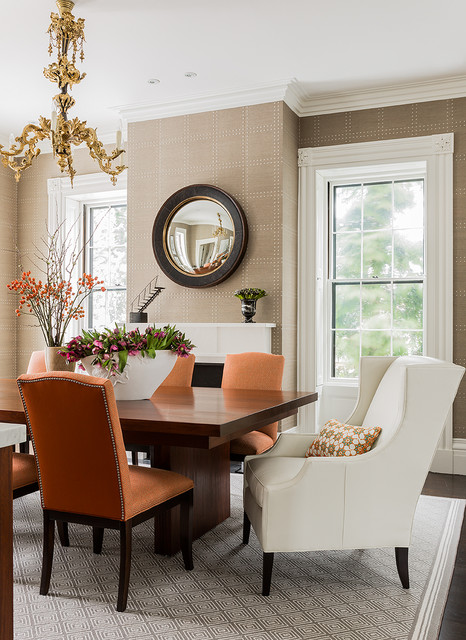 Jamaica Pond transitional-dining-room