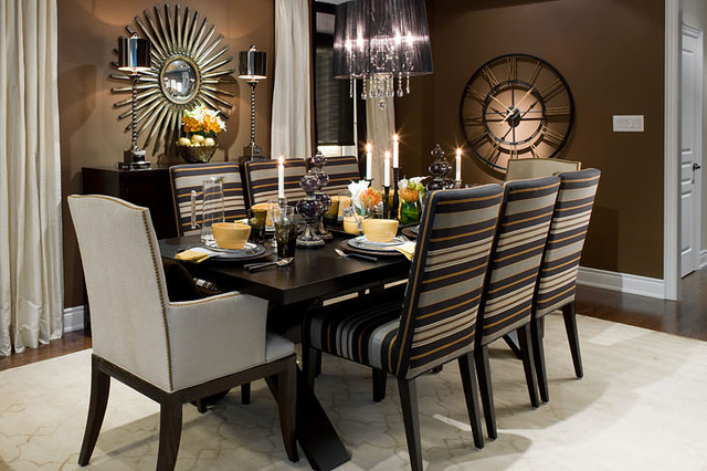 Jane Lockhart Brown/Black Dining Room Contemporary Dining Room
