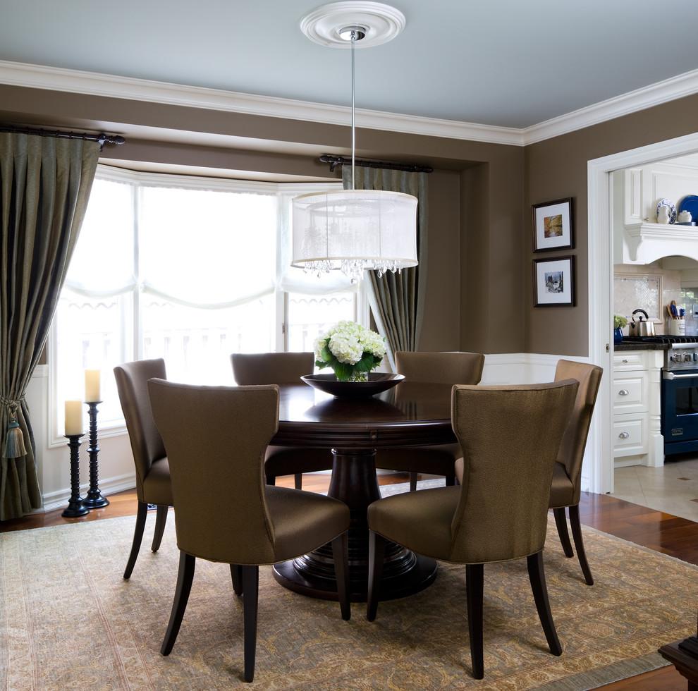Elegant dining room photo in Toronto