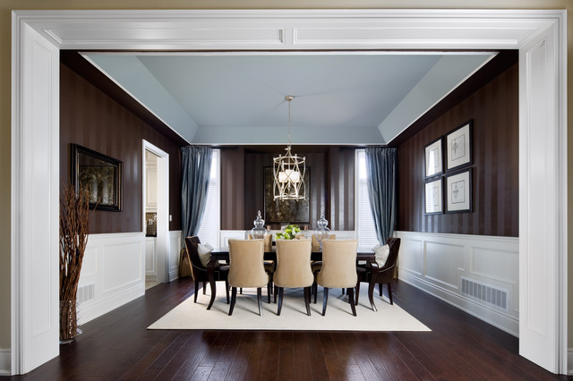 Houzz Wallpaper Dining Room: Jane Lockhart Interior Design Traditional-dining-room