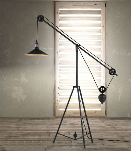 jasper floor lamp industrial dining room miami by el dorado. Black Bedroom Furniture Sets. Home Design Ideas