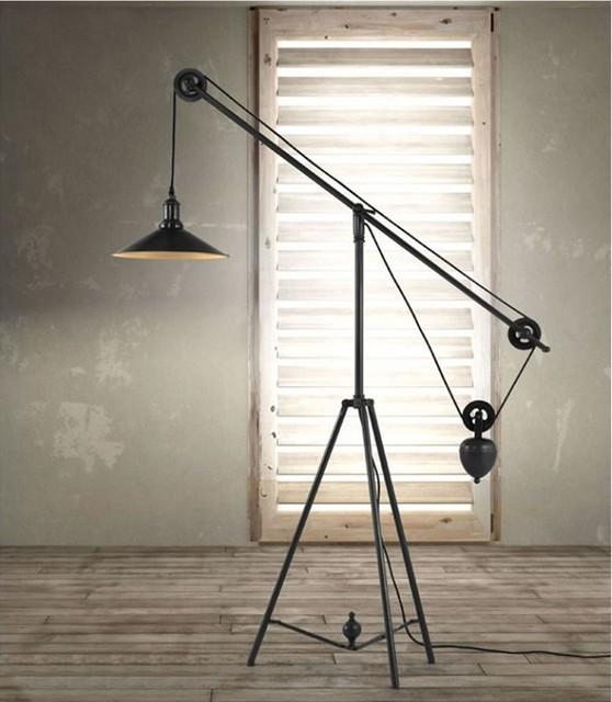 jasper floor lamp industrial dining room miami by el dorado. Black Bedroom Furniture Sets. Home Design Ideas