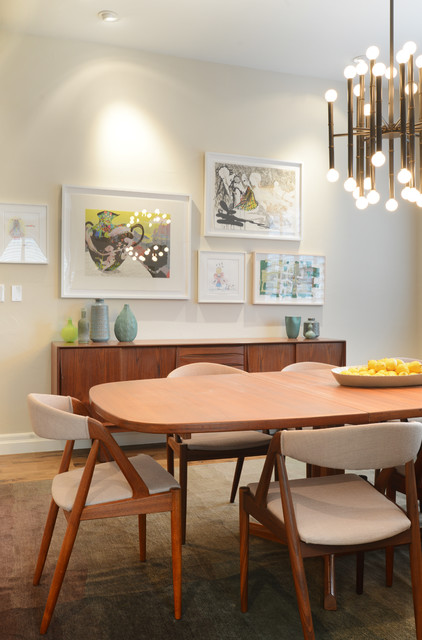 Jersey Street - Retro - Dining Room - Denver - by Walls by Design Inc
