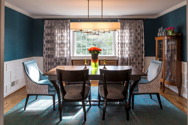 Jewel Toned Dining Room transitional-dining-room